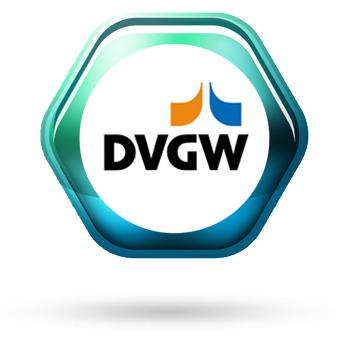 DVGW Zertifiziert für Gas und Wasser